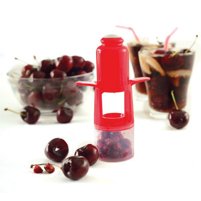 Cherry & Olive Pitter with Cup and Shield